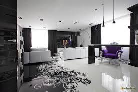 комната в черно-белых тонах